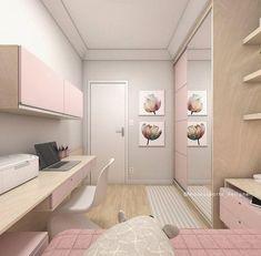 Terça-feira começando com mais um projeto de cuarto for a pre-adolescent . Study Room Decor, Teen Room Decor, Home Decor Bedroom, Bedroom Ideas, Small Room Bedroom, Girls Bedroom, Bedrooms, Home Room Design, Girl Bedroom Designs