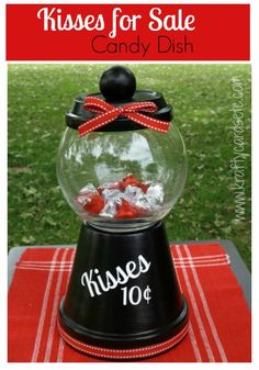 Kisses for Sale Candy Dish | Krafty Cards etc