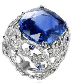 gioielli con zaffiri anello chopard diamanti