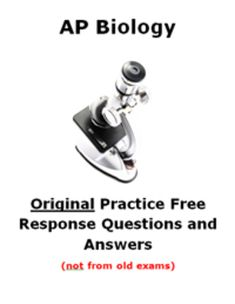 ap biology exam essay questions and answers