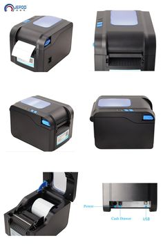 [Visit to Buy] 370B label barcode printer thermal receipt or label printer 20mm to 80mm thermal barcode printer automatic stripping #Advertisement