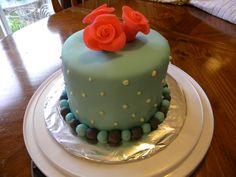 First fondant covered cake I made