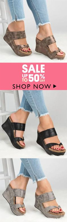 85d73ad9e756d Large Size Slip On Thong Wedge Sandals