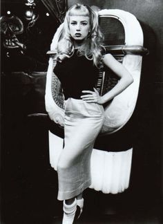 Traci Lords in Cry Baby loved her hair in this movie . Want a high straight bang greaser girl inspired hair cut