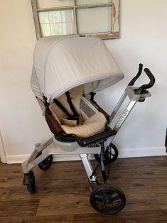 New Orbit Baby Upholstery For Mocha Stroller Seat in Beige Fabric