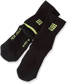 0db3c5a583 CEP Mens Ortho Achilles Support Short Compression Socks blackgreen Size IV  Ankle Circumference 9510Inch -- Read more at the image link.