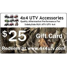 4x4 UTV Gift Cards $25-$1000 Free Shipping