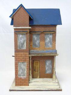Antique German Gottschalk Lithographed Dollhouse