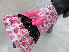 Pig Cat or   Dog Dress with two ruffles and by graciespawprints