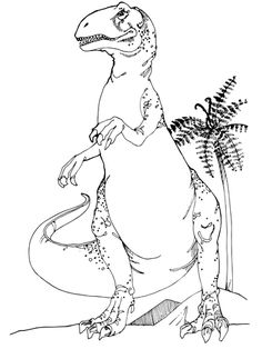 allosaurus jurassic dinosaur coloring page from allosaurus category select from 24104 printable crafts of cartoons