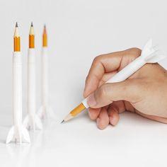 Download on https://cults3d.com #3Dprinting #Impression3D 3D printing Rocket Pencil Extender, FORMBYTE