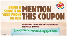 Burger King Coupons Ends of Coupon Promo Codes JUNE 2020 ! Burger King, also known as BK, is one of the world's largest fast food chai. Michaels Coupon, Lowes Coupon, Home Depot Coupons, Walgreens Coupons, Target Coupons, Free Printable Coupons, Free Printables, Golden Corral Coupons, Fast Food Chains
