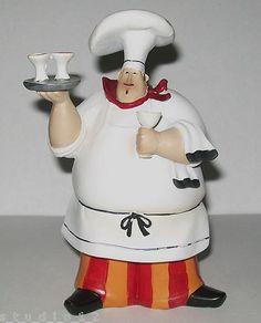Jennifer Garant Fat Chef Chefs Wine Collectible Figurine Cute New Kitchen Decor