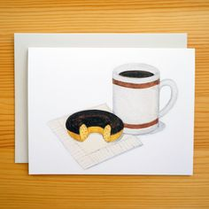 Coffee & Donut Break Card
