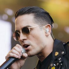 G-Eazy Hairstyle - Undercut with Tapered Slick Back