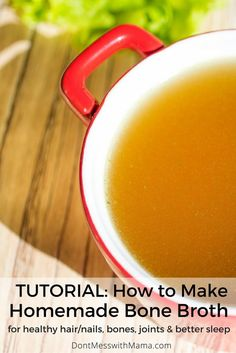 How To Make Homemade Broth. Learn how to make homemade broth or stock in this tutorial and learn the health benefits of bone broth for the body. It's so easy to make at home! Paleo Recipes, Whole Food Recipes, Soup Recipes, Superfood Recipes, Drinking Bone Broth, Cooking Tips, Cooking Recipes, Clean Eating, Healthy Eating
