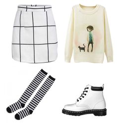 """I am the gay"" by pastel-colors ❤ liked on Polyvore featuring Dr. Martens"