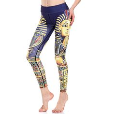 3D print Egyptian Pharao winter warm Harajuku punk adventure time workout push up spandex plus size fitness leggings women pants