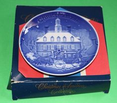 Bing & Grondahl 1986 Christmas Eve in Williamsburg America B&G plate with COA #babescollectibles