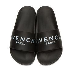 d1c740cf0d941f Givenchy - Black Logo Slide Sandals Rubber Sandals