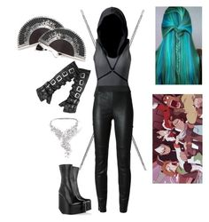 """""""Ioleina Ulavaris - Voltron OC"""" by princess-greenleaf ❤ liked on Polyvore featuring Surface To Air, Marchesa, Damiani and Moka London"""
