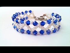 2 Bracelets 1 Beaded Pattern. How to make beautiful bracelets for Mother's Day - YouTube