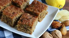 Lemon Millet Fig Cake with Walnuts and Candied Ginger - The Daring Gourmet Fruit Recipes, Baby Food Recipes, Cake Recipes, Dessert Recipes, Dessert Ideas, Yummy Recipes, Millet Cake Recipe, Delicious Desserts, Yummy Food