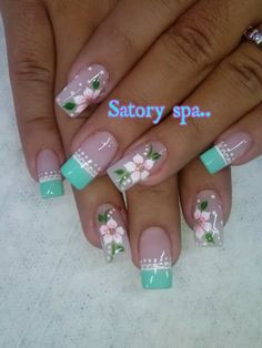 nails art designs for fall nails 2018 Nail Art nails Fall designs art 2018 New Nail Designs, Acrylic Nail Designs, Acrylic Nails, Fall Designs, Spring Nail Art, Spring Nails, French Nails, Fun Nails, Pretty Nails