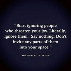 Start Ignoring People