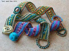RibbonBracelets at Art & Tea  I adore her sense of color!