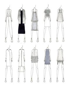 Fashion Sketches | JUSTINE W. LEE