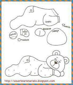 Patch urso dorminhoco