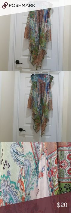 Convertible handkerchief skirt/dress Only worn once,  beautiful floaty skirt, generous size Hugging Kisses Dresses Asymmetrical