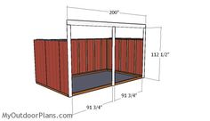 This step by step diy project is about run in shed plans. This loafing shed is very versatile, as it can shelter your ATV, your tools or even outdoor furniture. 10x20 Shed, Loafing Shed, Run In Shed, Wooden Playhouse, Diy Shed, Shed Plans, Easy Projects, Play Houses, Woodworking Projects