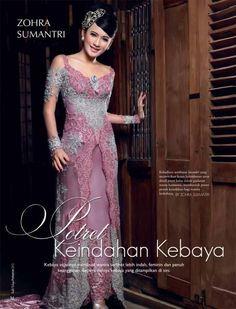 Image result for model kebaya warna pink