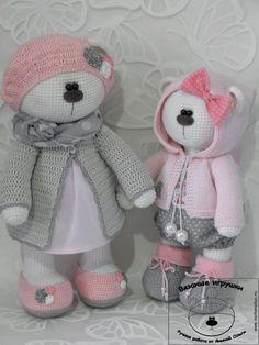 Фотографии Ольги Яниной Crochet Animal Patterns, Stuffed Animal Patterns, Crochet Animals, Crochet Bunny, Crochet For Kids, Knit Crochet, Crochet Doll Clothes, Crochet Dolls, Amigurumi Toys