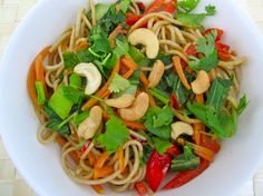 Curried Soba Noodles - Sub goats milk for coconut milk, no cashews, no soy sauce, etc.