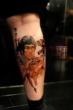 Cool Bruce Lee Tattoo