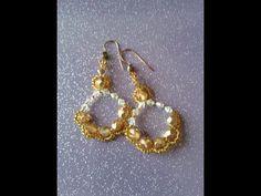 DIY Tutorial orecchini perline --- Tutorial bead earrings - YouTube