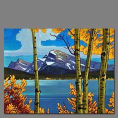 Bott Abstract Landscape, Landscape Paintings, Abstract Art, Canadian Painters, Canadian Art, Romantic Paintings, Paintings I Love, Waterfall Paintings, Landscape Pictures
