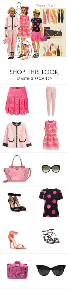 """""""Paper. Dolls. 1"""" by catzmeow ❤ liked on Polyvore featuring DKNY, RED Valentino, Valentino, Victoria Beckham, Givenchy, Yves Saint Laurent, L'Autre Chose, Moschino and Marc by Marc Jacobs"""