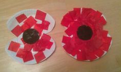I would just use one plate and cut triangles out of it in 4 places to look more like a poppy.