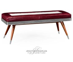 50's Americana leather bench #hpmkt #jcfurniture #jonathancharles #Furniture…