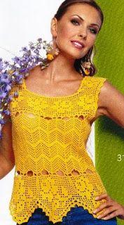 Crochetcetera e tal: Mais umas belezuras... Crochet Shirt, Crochet Hooks, Knit Crochet, Crochet Bodycon Dresses, Black Crochet Dress, Filet Crochet, Tunisian Crochet, Handmade Dresses, Crochet Fashion