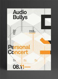 Audio Bullys by Marius Roosendaal, via Behance