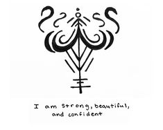 "power-of-three: "" ""I am strong, beautiful, and confident"" sigil for Sigil requests are currently closed -Mod Pyre "" Witch Symbols, Magic Symbols, Spiritual Symbols, Symbols And Meanings, Viking Symbols, Egyptian Symbols, Ancient Symbols, Viking Runes, Wiccan Tattoos"