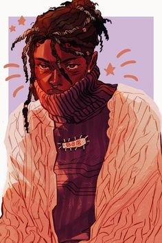 Cute Art Styles, Cartoon Art Styles, Art Sketches, Art Drawings, Black Cartoon Characters, Arte Sketchbook, Afro Art, Dope Art, Arte Pop