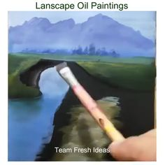 ideas step by step Lanscape Oil Paintings Acrylic Painting Lessons, Painting Videos, Acrylic Art, Painting Techniques, Painting & Drawing, Landscape Art, Landscape Paintings, Watercolor Paintings, Oil Paintings