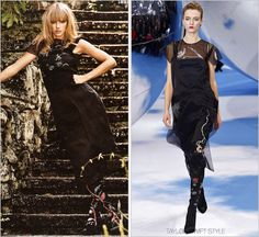 InStyle magazine | November 2013 Christian Dior Fall 2013 RTW This off-the-runway embroidered silk dress (and boots) feature the same eye print present throughout the Dior collection. Check out the rest of Taylor's photo spread in InStyle here.