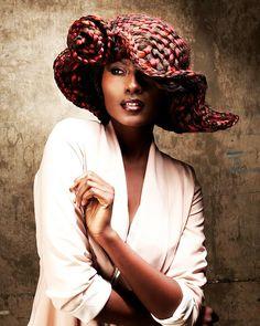 "HAIR HATS ""A Day at the Races"" by British styling phenom Anne Veck; MUA: Ewa Pietras; Fashion Stylist: Kate Jeffery; Photog: Barry Jeffery; Product: #Matrix Design Pulse #hotonbeauty #hairhats hotonbeauty.com"
